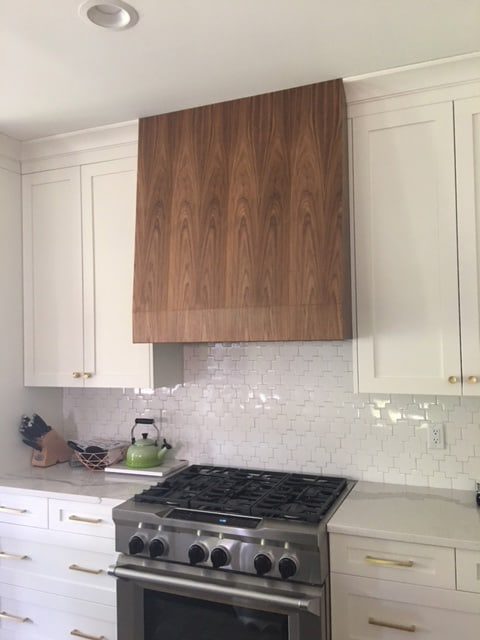 Walnut custom vent hood cabinet expressions for Best vent hoods review